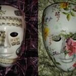 Máscaras decoradas artesanalmente