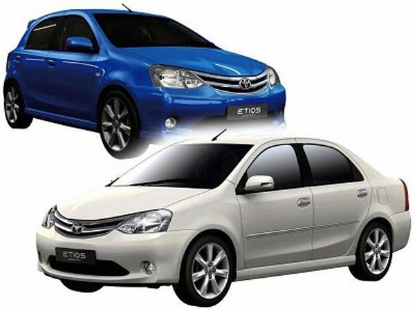 Toyota Etios é oferecido nas versões hatch e sedã