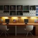Um ambiente aconchegante e básico para estudar