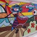 O grafite pode ser usado para decorar o muro residencial