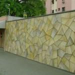 Pintura imita as pedras naturais