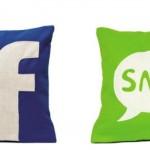 Símbolos da internet se transformaram em almofadas.