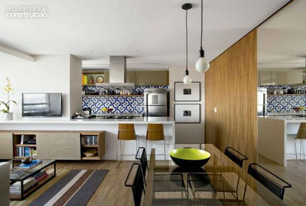 Sala De Estar E Tv Conjugadas ~  sala de jantar ambiente integrado segue o mesmo estilo de decoração