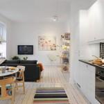 Ambiente integrado segue o mesmo estilo de decoração