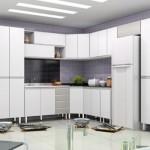 Móveis e eletrodomésticos da cor branca em perfeita harmonia.