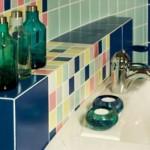 Cores contribuem com a personalidade da área sanitária.