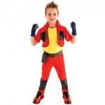 Fantasia Power Ranger vermelho sem morfar