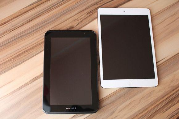 Os tablets da Samsung e da Apple estão entre os mais procurados (Foto Ilustrativa)