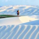 Vista exuberante das areias branquinhas dos Lençóis (Foto:Divulgação)