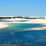 Lagoas cheias no Parque Nacional dos Lençóis Maranhenses (Foto:Divulgação)