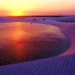 Pôr do Sol dos Lençóis Maranhenses (Foto:Divulgação)
