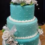 Bolo de casamento com pasta americana azul (Foto:Divulgação)