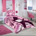 Edredom rosa para quarto de menina
