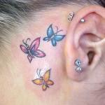 Tatuagem de borboletas (Foto:Divulgação)