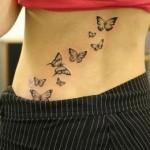Tatuagem de borboletas nas costas (Foto:Divulgação)