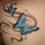 Tatuagens de borboleta azul (Foto:Divulgação)
