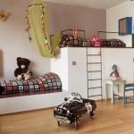 Camas para quarto infantil feitas em alvenaria