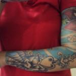 Tatuagem no braço todo (Foto:Divulgação)