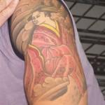 Tatuagem de gueixa no braço (Foto:Divulgação)
