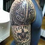 Tatuagem no ombro e braço (Foto:Divulgação)