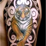 Tatuagem de tigre no braço (Foto:Divulgação)