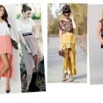 Diversos modelos de saias mullet