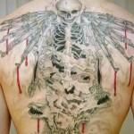 Tatuagem de esqueleto sangrento (Foto:Divulgação)