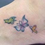 Tatuagem de borboletas coloridas (Foto:Divulgação)