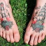 Tatuagem de Torre no pé (Foto:Divulgação)