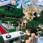 O jardim pode se transformar no cenário da sua festa.