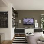 Uma sala moderna para homem solteiro
