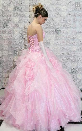 Vestido rosa bebê