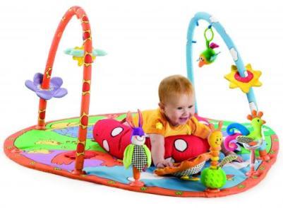 Com o tapete de atividades, o bebê aprende a distinguir formas, cores e animais. (Foto: Divulgação)