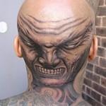 Tatuagem de face assustadora (Foto:Divulgação)