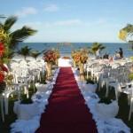 Tapete para a passagem da noiva (Foto: Divulgação)