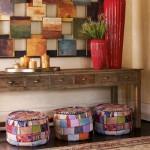 A decoração fica mais alegre e descontraída com patchwork.