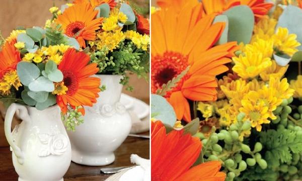 (As flores dão um ar de sofisticação a mesa (Foto Divulgação: MdeMulher)