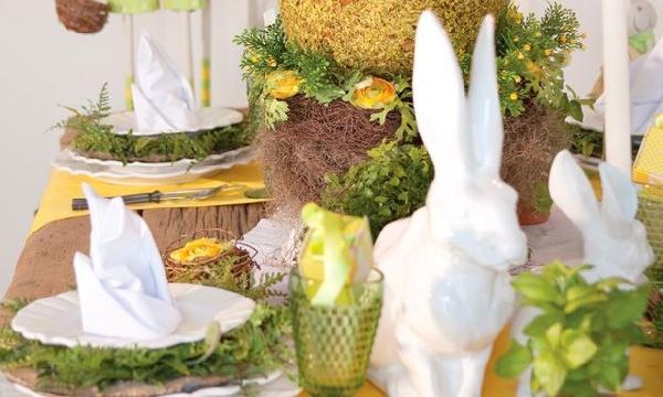 A mesa pode conter inúmeros enfeites de páscoa (Foto Divulgação: MdeMulher)