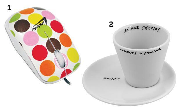 No inimigo secreto, um mouse para aquele amigo que reclama do dele e uma caneca para o amigo que adora um café (Foto: Mdemulher)