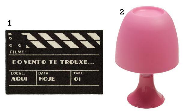 Um abajur rosa e uma claquete para aquela pessoa que só fala de cinema (Foto: Mdemulher)