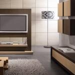 Os móveis reforçam o clima acolhedor e moderno.