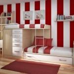 O beliche sob medida decora o quarto infantil