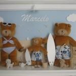 Enfeite de ursos na praia (Foto:Divulgação)