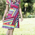 Vestido colorido, tendencia do verão 2012 em moda evangelica.