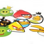 Personagens do Angry Birds viraram adesivos.