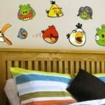 Seja criativo e use o bom gosto para decorar com Angry Birds.