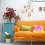 Sofa antigo amarelo(Foto:Divulgaçao)