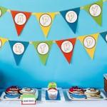 A decoração Angry Birds tem muitas cores