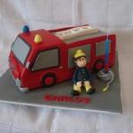 Bolo de Aniversário de bombeiro (Foto:Divulgação)