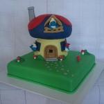 Bolo de Aniversário da casa dos Smurfs(Foto:Divulgação)